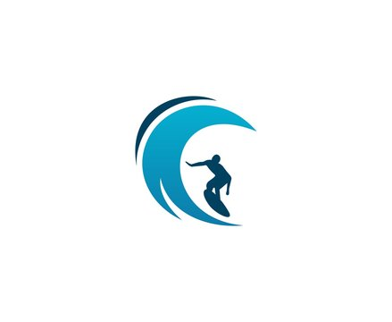 Surfing logo