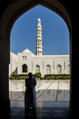 Sultan Qaboos Grand Mosque, Muscat, Sultanate of Oman, Middle East.