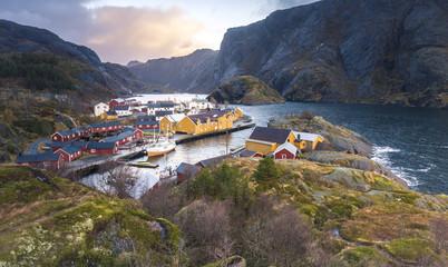 Nusfjord village, Lofoten Island, Norway