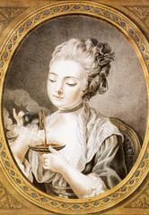 Illustration/ Femme prenant son café