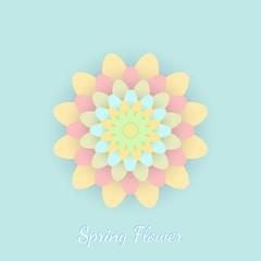 Paper colored flower. Vector illustration