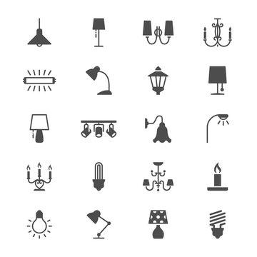 Light flat icons