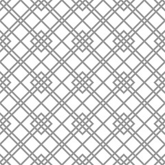 Seamless silver background for your designs. Modern vector ornament. Geometric abstract pattern