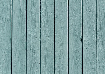 Cyan color wooden fence pattern.