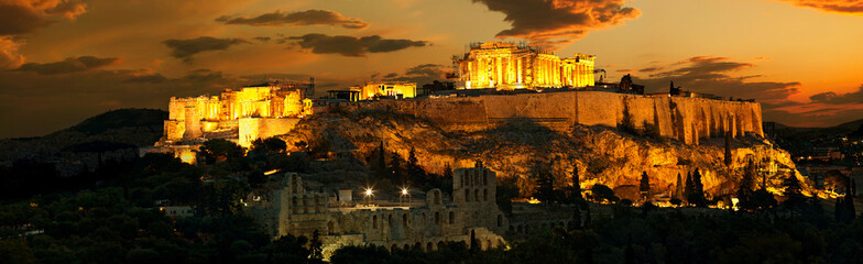 Acropolis before sunrise Fototapete
