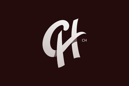Letter C and H Monogram Logo Design Vector