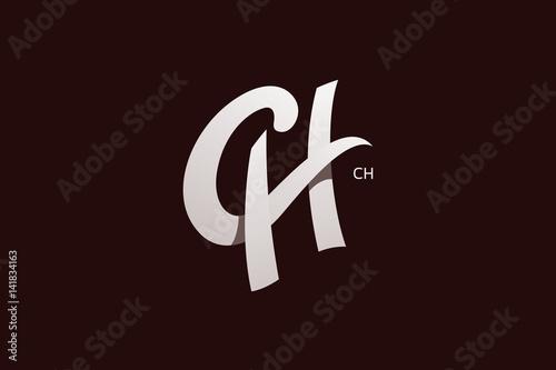 Letter C And H Monogram Logo Design Vector