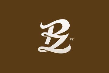 Letter P And Z Monogram Logo Design Vector