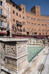 The Fonte Gaia fountain in Siena