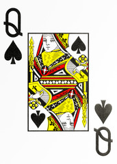 large index playing card queen of spades