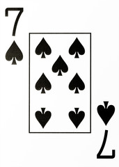 large index playing card 7 of spades