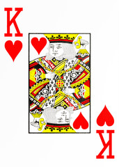 large index playing card king of hearts