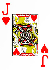 large index playing card jack of hearts