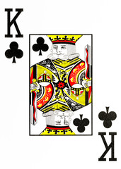 large index playing card king of clubs