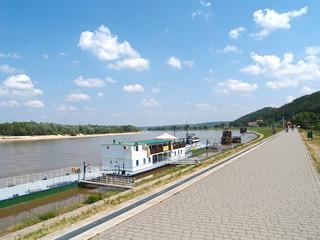 Poland. Vistula Embankment in Kazimezhe Dolnom