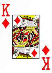 large index playing card king of diamonds