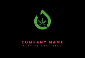 oil drop marijuana logo