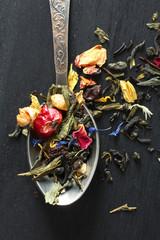 herbal tea in a teaspoon