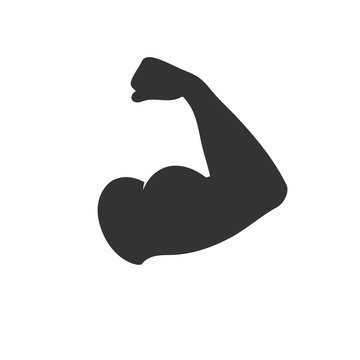 Muscular arm icon