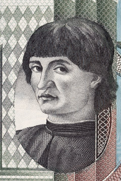 Niccolo Machiavelli portrait from Italian money