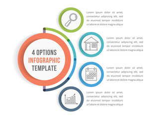 Infographic Template with Four Options
