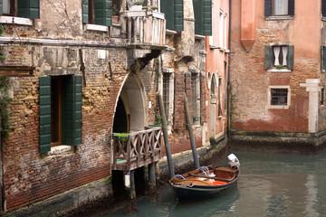 Il parcheggio delle barche a Venezia