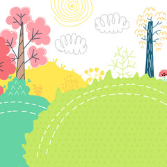 Doodles cute card