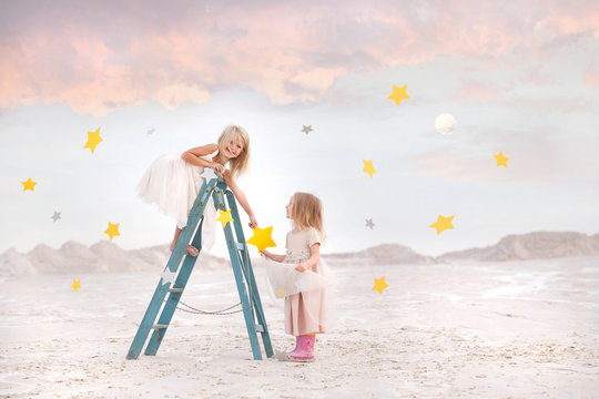 Fairy Tale - Girls gathering stars