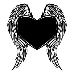 Heart with wings.