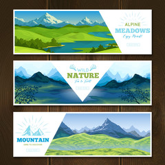 Alpine Meadows Banners Set