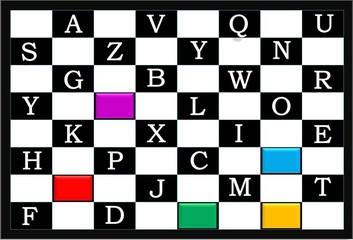 Alphabet chess for kids