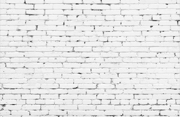 White brick wall urban Background.