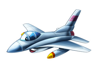 cartoon happy jet fighter military machine