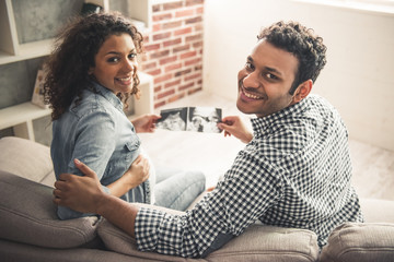 Afro American couple