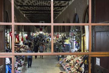 View of Arasta Bazaar in Edirne, Turkey.