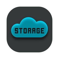 Storage Cloud App Icon Design Idea Vector