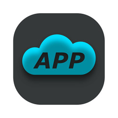 Cloud App Icon Vector
