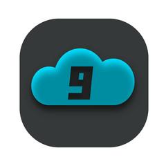 Cloud Nine App Icon Design Idea