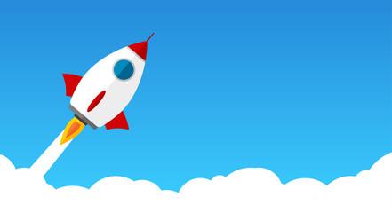 Raketenstart durch Wolken