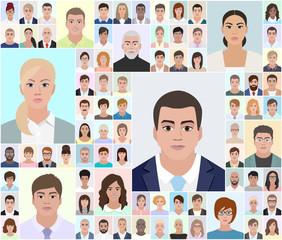 Different portraits, choose people, vector