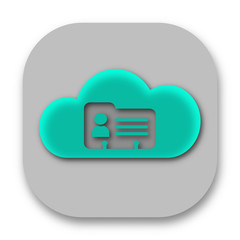 Cloud Contact Database Application Icon Design