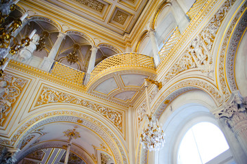 Pavilion Hall, Hermitage Museum in St. Petersburg, Russia, Hermitage is one of the largest and oldest museums of art and culture in the world