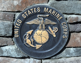 US Marine Corps commemorative plaque