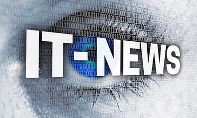 IT News auge mit matrix blickt auf betrachter konzept