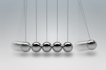 3D rendered illustration of Newton cradle.