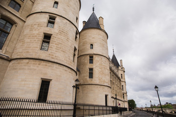 Conciergerie - former royal palace and a prison. Travel through Europe. Attractions in France.