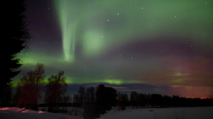 Aurora Borealis / Northern Light in the sky of Lapland, Finland