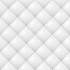 Quilted Pattern Vector. White Soft Neutral Background Seamless