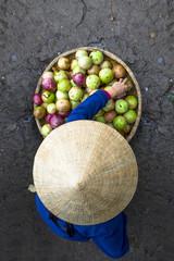 Hue, Vietnam. Street food market.