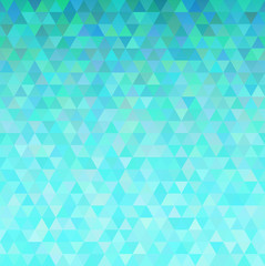 Turquoise abstract triangles background